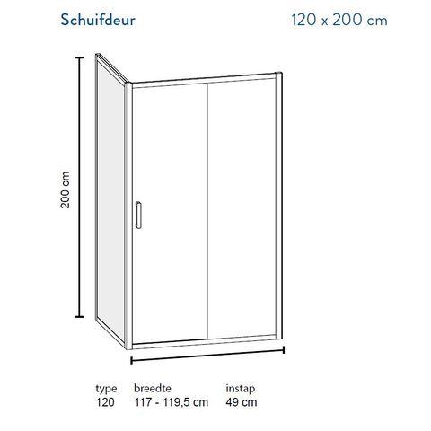 Bruynzeel Lector II schuifdeur 2-delig 120cm