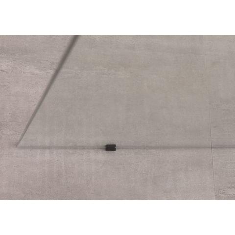 Bruynzeel Lector inloopdouche vrijstaand 100cm - muursteun - zwart