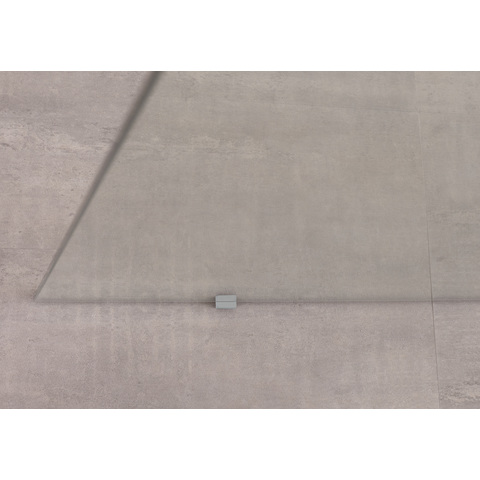 Bruynzeel Lector inloopdouche vrijstaand 90cm - plafondsteun - aluminium