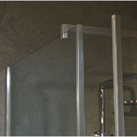 Bruynzeel Module Inline douchecabine 100x80cm 3-delig met draaideur