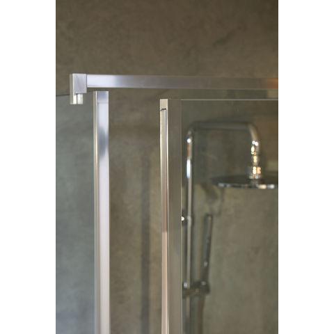 Bruynzeel Module Inline douchecabine 110x80cm 3-delig met draaideur