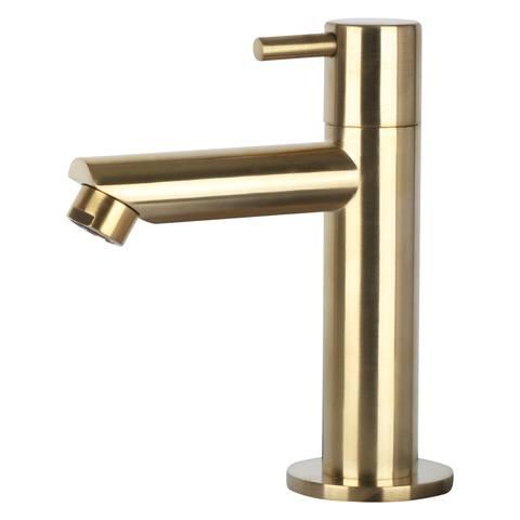 Differnz Bombai Black fonteinset - kraan recht - mat goud