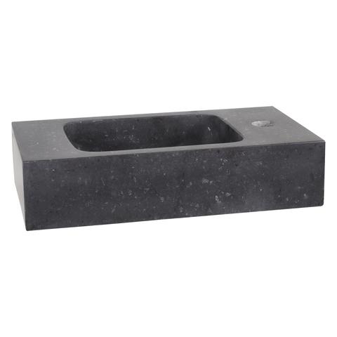Differnz Bombai Black fonteinset met zwart frame - kraan recht - koper