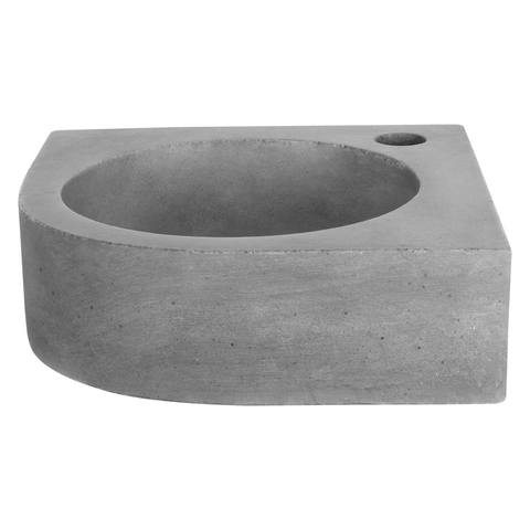 Differnz Cleo fonteinset - kraan gebogen - beton - mat zwart