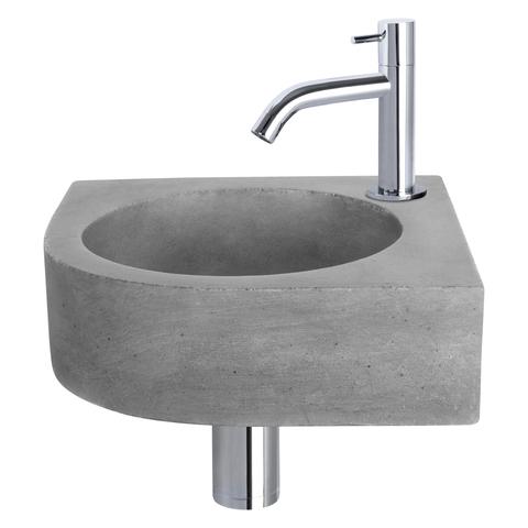 Differnz Cleo fonteinset - kraan gebogen - beton - chroom
