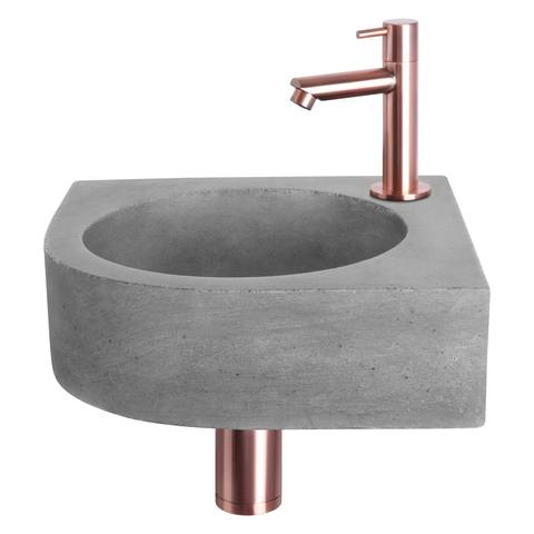 Differnz Cleo fonteinset - kraan recht - beton - koper