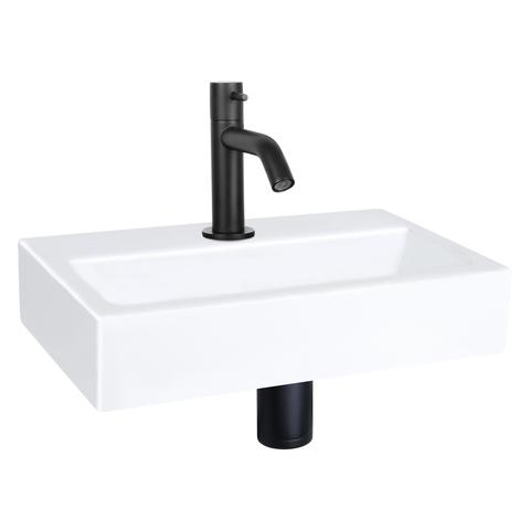 Differnz Flat fonteinset - kraan gebogen - keramiek - mat zwart
