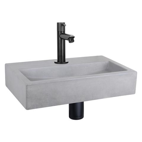 Differnz Flat fonteinset - kraan recht - beton - mat zwart