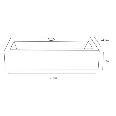 Differnz Flat fonteinset - kraan recht - marmer - mat zwart