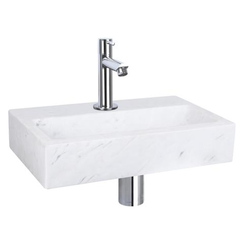 Differnz Flat fonteinset - kraan recht - marmer - chroom