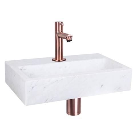 Differnz Flat fonteinset - kraan recht - marmer - koper