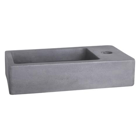 Differnz Force fonteinset - kraan gebogen - beton - chroom