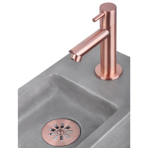Differnz Force fonteinset - kraan recht - beton - koper