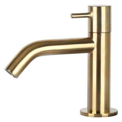 Differnz Force fonteinset met zwart frame - kraan gebogen - beton - mat goud