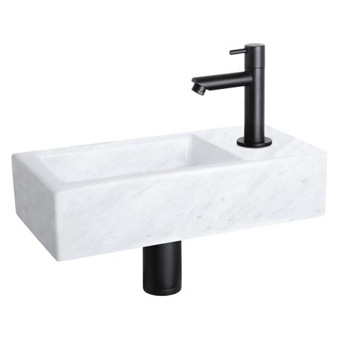 Differnz Helios fonteinset - kraan recht - marmer - mat zwart