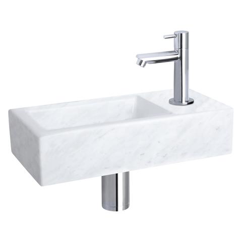 Differnz Helios fonteinset - kraan recht - marmer - chroom