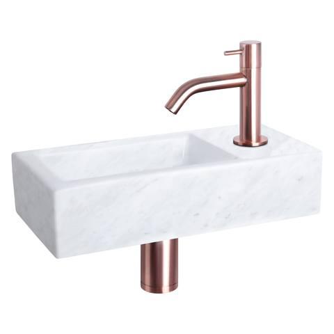 Differnz Helios fonteinset - kraan gebogen - marmer - koper