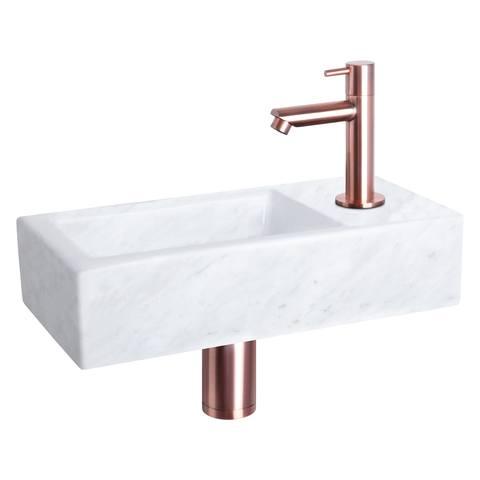 Differnz Helios fonteinset - kraan recht - marmer - koper
