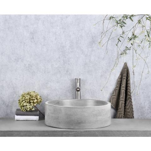 Differnz Marba wastafel 42 cm - beton - lichtgrijs