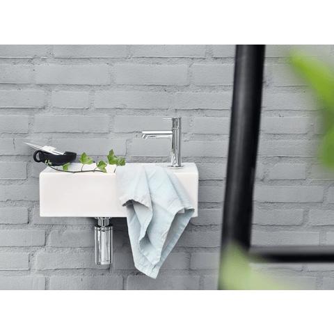 Differnz Ravo fonteinset - kraan recht - beton lichtgrijs - chroom