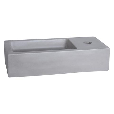 Differnz Ravo fonteinset - kraan gebogen - beton lichtgrijs - chroom