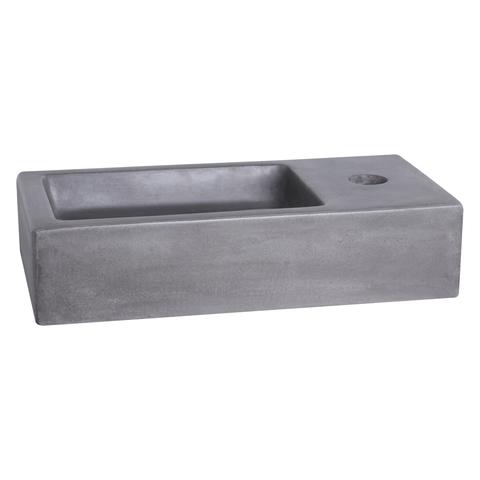 Differnz Ravo fonteinset met zwart frame - kraan gebogen - beton donkergrijs - koper