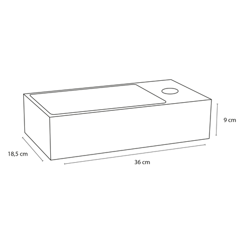 Differnz Solid fonteinset - kraan gebogen - mat chroom