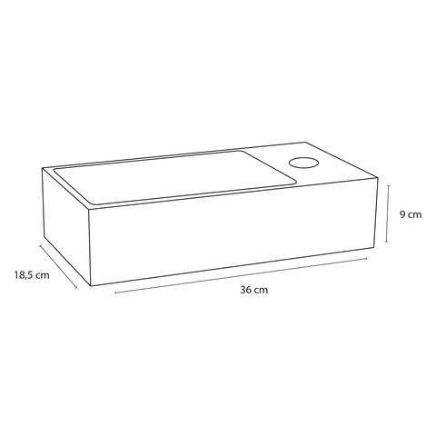 Differnz Solid fonteinset - kraan gebogen - koper