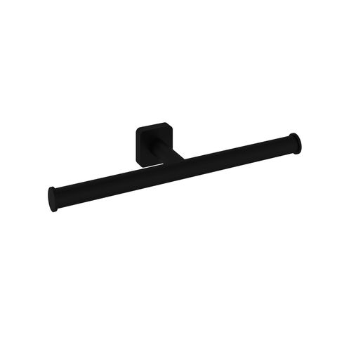 Hotbath Gal GLA05BL dubbel toiletrolhouder - Mat zwart