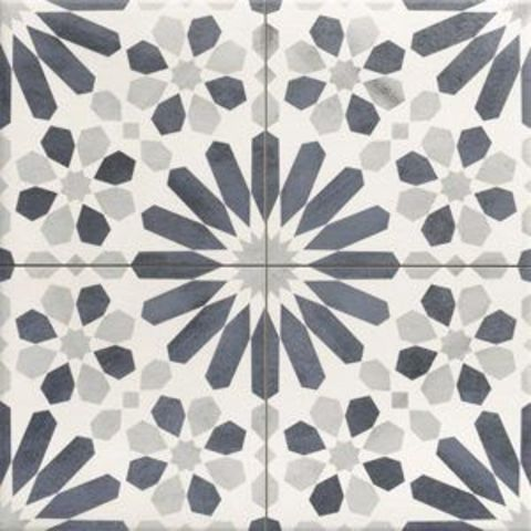 Realonda Marrakech decortegel 44x44 - decor blue