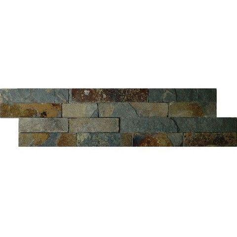 Jabo Schiste flatface stonepanel tegelstroken leisteen 60x15 cm rusty slate (per stuk)