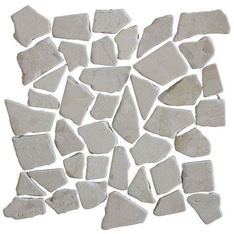 Kerabo mozaiektegel marmer scherven 30x30 - Beige
