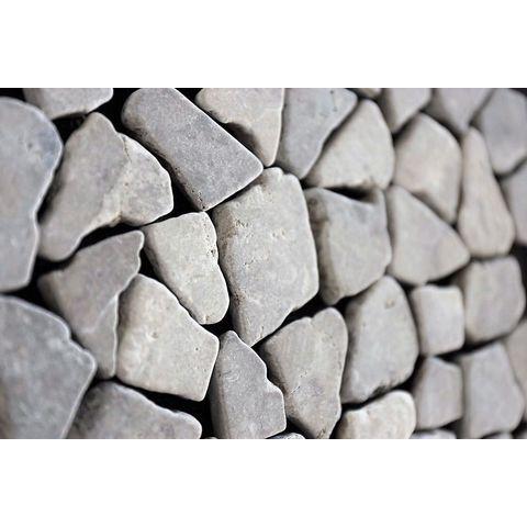 Kerabo mozaiektegel marmer scherven 30x30 - Light Grey