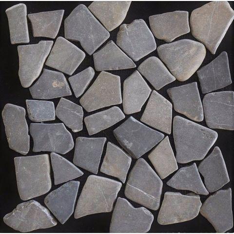 Kerabo mozaiektegel marmer scherven 30x30 - Grey