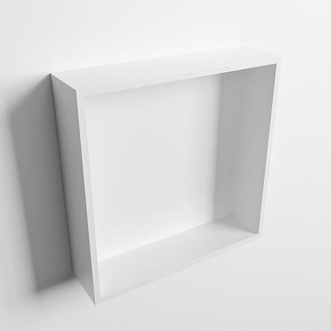 Mondiaz Easy nis 29,5x29,5cm solid surface - Talc / Talc - 1 vak