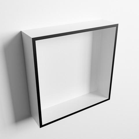 Mondiaz Easy nis 29,5x29,5cm solid surface - Urban / Talc - 1 vak