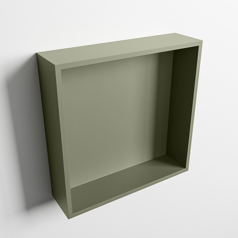 Mondiaz Easy nis 29,5x29,5cm solid surface - Army / Army - 1 vak