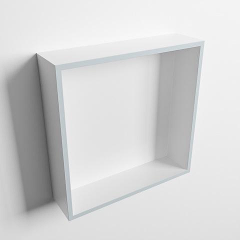 Mondiaz Easy nis 29,5x29,5cm solid surface - Clay / Talc - 1 vak