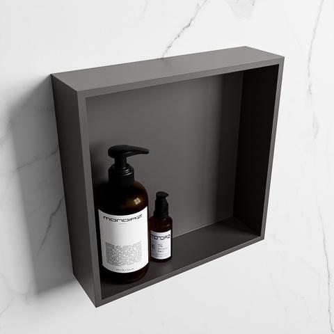Mondiaz Easy nis 29,5x29,5cm solid surface - DarkGrey / DarkGrey - 1 vak