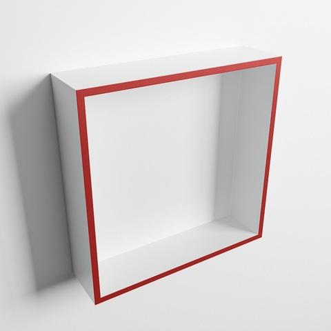 Mondiaz Easy nis 29,5x29,5cm solid surface - Fire / Talc - 1 vak