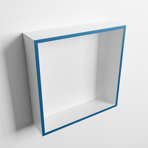 Mondiaz Easy nis 29,5x29,5cm solid surface - Jeans / Talc - 1 vak