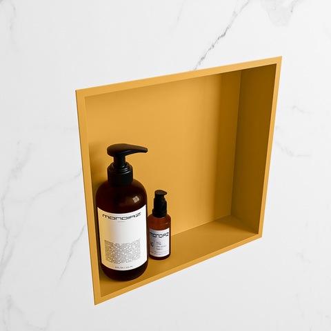 Mondiaz Easy nis 29,5x29,5cm solid surface - Ocher / Ocher - 1 vak