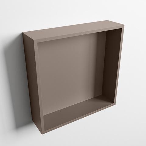 Mondiaz Easy nis 29,5x29,5cm solid surface - Smoke / Smoke - 1 vak
