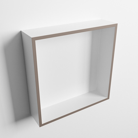 Mondiaz Easy nis 29,5x29,5cm solid surface - Smoke / Talc - 1 vak