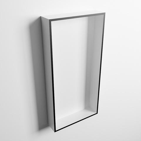 Mondiaz Easy nis 59,5x29,5cm solid surface - Urban / Talc - 1 vak
