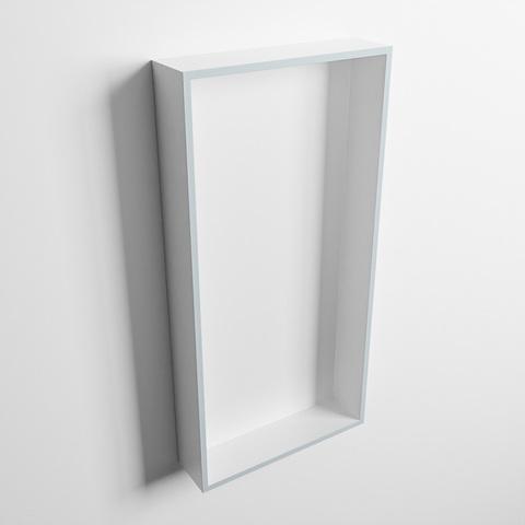 Mondiaz Easy nis 59,5x29,5cm solid surface - Clay / Talc - 1 vak