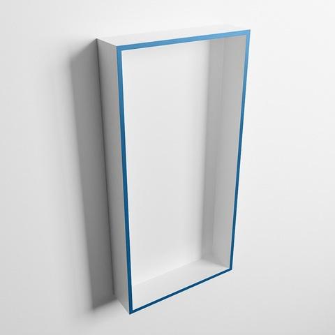 Mondiaz Easy nis 59,5x29,5cm solid surface - Jeans / Talc - 1 vak