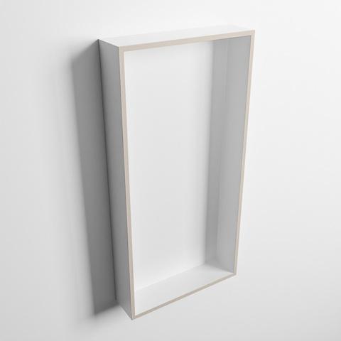 Mondiaz Easy nis 59,5x29,5cm solid surface - Linen / Talc - 1 vak