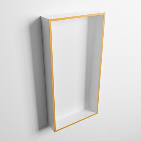 Mondiaz Easy nis 59,5x29,5cm solid surface - Ocher / Talc - 1 vak