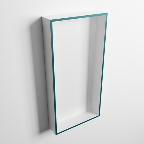 Mondiaz Easy nis 59,5x29,5cm solid surface - Smag / Talc - 1 vak